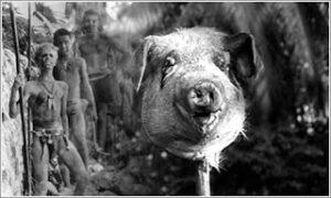 Sineklerin Tanrısı filminde öldürülen domuz